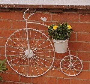 Cream Penny Farthing Garden Wall Planter Amazon Co Uk Kitchen Home