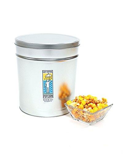 Gary Poppins Popcorn Caramel + Cheddar + Kettle Popcorn, Tin, 3.5 Gallon