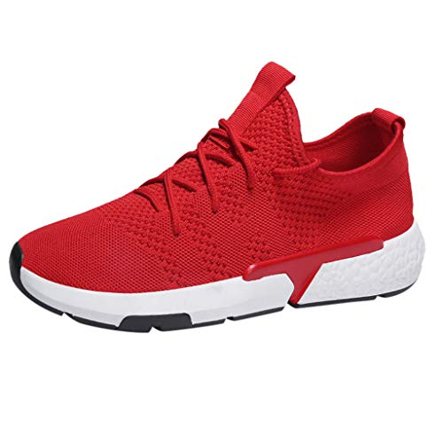 (JJLIKER Men's Lace Up Sneakers Mesh Ultra Lightweight Breathable Athletic Running Walking Gym Soft Sole Casual Shoes)