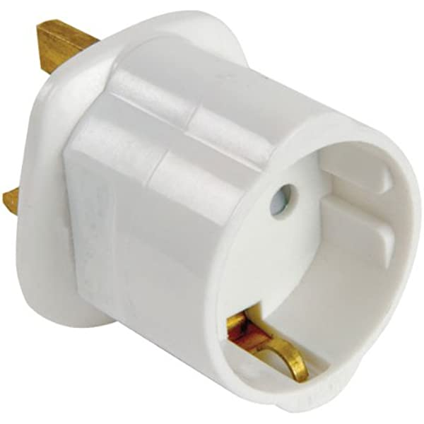 Genérico E301DB - Adaptador de Enchufe EU a UK, Blanco: Amazon.es: Electrónica