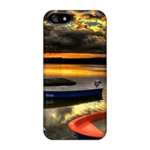 Special Design Back Boat Phone Case Cover For Iphone 5/5s by lolosakes