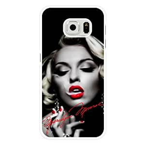 Samsung Galaxy S6 Edge Case, Customized Marilyn Monroe White Hard Shell Samsung Galaxy S6 Edge Case, Marilyn Monroe Galaxy S6 Edge Case(Only Fit for Galaxy S6 Edge)