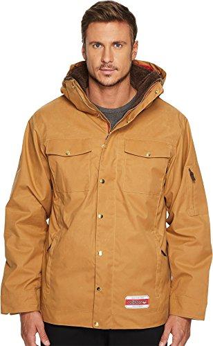 Coated Twill Jacket (adidas Skateboarding Men's Glisan Jacket Mesa/Scarlet Medium)