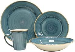 Thomson Pottery Pacific 16 Piece Dinnerware Set Service For 4  sc 1 st  Amazon.com & Amazon.com: Thompson Pottery - Dinnerware Sets / Dining ...