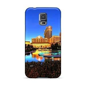 Shock Absorption Hard Phone Cases For Samsung Galaxy S5 (GxU22706VQsE) Custom HD Caesars Palace Las Vegas Hotel & Casino Series