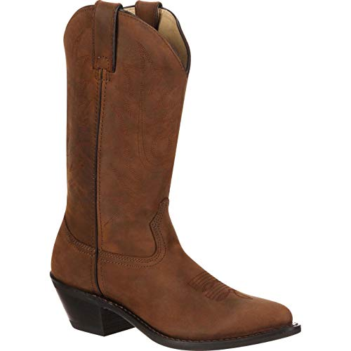 Durango Boot Women's RD4112 11 Leather Boots,Tan Distress Leather,10 W US ()