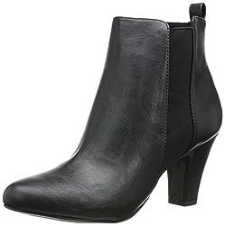 BCBGeneration Women's BG-Donahue Boot, Black Nappa Stretch, 9 M US