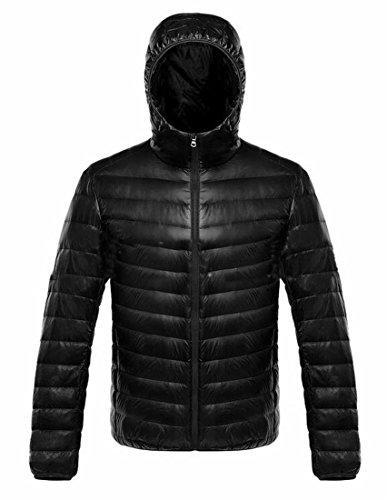 Generic Black Down Winter Jackets Ultra Puffer Packable Warm Men's r7Ox8Fr