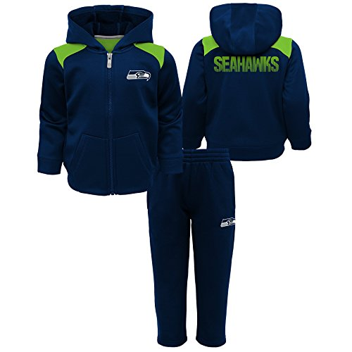 Outerstuff NFL Seattle Seahawks Toddler Play Action Performance Fleece Set, Dark Navy, 4T