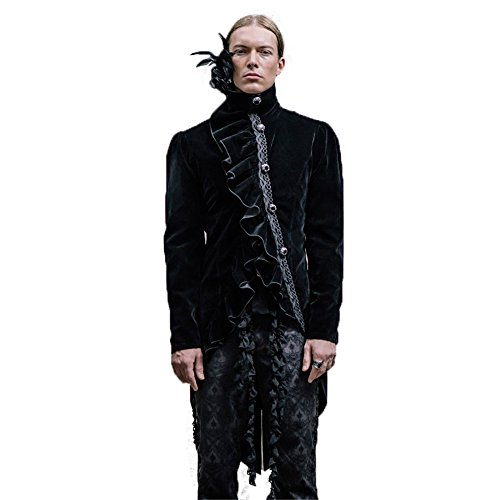 Gli 6 Manica Lana Uomini Punk Invernale Misure Per Giacca Devil In Lunga Fashion Spessa Gothic A qx6FRC47