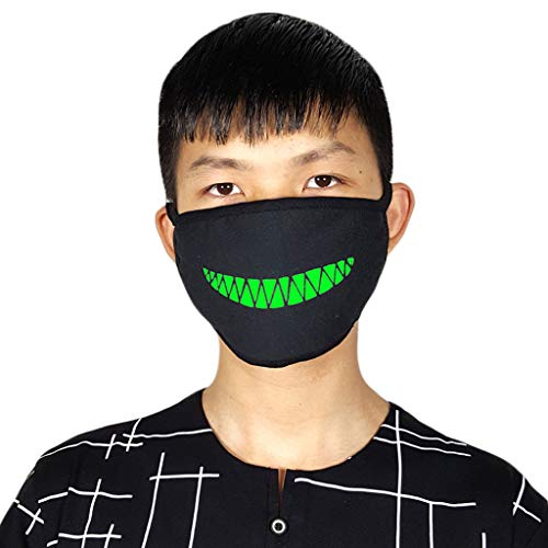 JAGENIE Halloween Accessories 1Pc Cotton Anti-Dust Face Mouth Mask Fluorescent Earloop Fashion Windproof Cover K17 -
