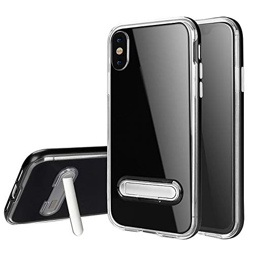 Reader Digital Book Cover - Wenjuan Shock Absorption Transparent Kickstand Shockproof Light Cover Case Skin Unique Protector 6.1Inch\6.5Inch\5.8 Inch for iPhone XR\ XS Max\XS (Black, for iPhone XS Max 6.5 Inch)
