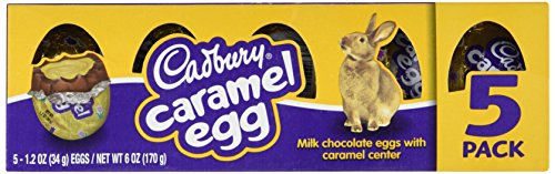 Cadbury Caramel Eggs 1 Package of 5 Eggs