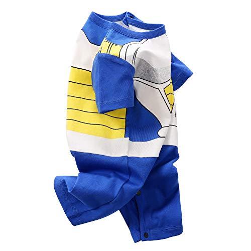 Dragon Ball Halloween Costumes (YFYBaby Baby Boy Vegeta Dragon Ball Romper Newborn Halloween Costume Short Sleeve Summer Cotton)