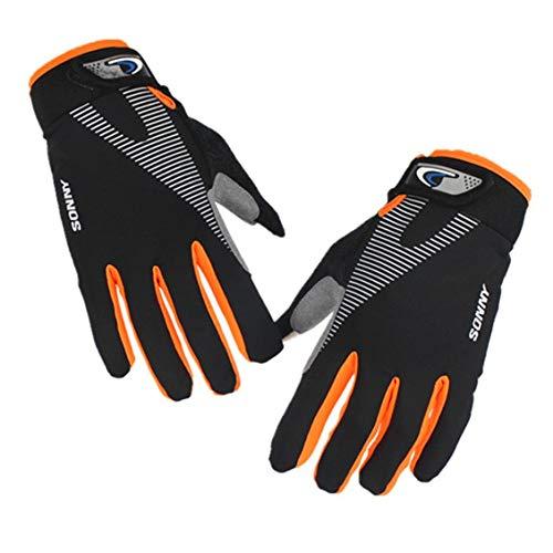 Chelsea Outdoor Riding Gloves Sports Touchscreen Thin Sunscreen Durable Riding Gloves XL Black Orange