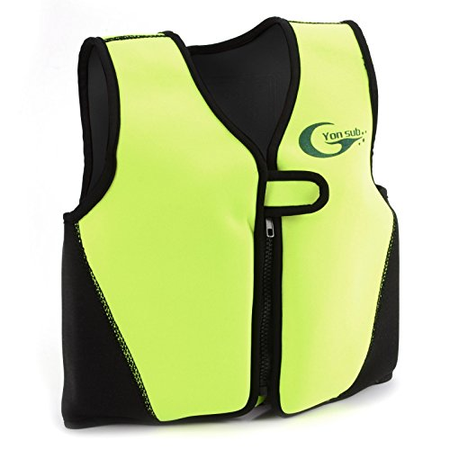 Baby Kids Swimming Life Jacket Swim Float Buoyancy Aid Vest KAYAK Sailing (Black + yellow, 6-8Y)