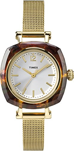 Timex Women's Helena | Mesh Bracelet Tortoise Bezel | Dress Watch TW2P69900