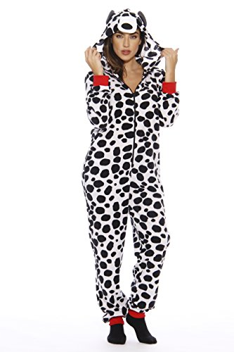 Woman Dalmatian Costume (#FollowMe Adult Onesie / Pajamas, Dalmation,)