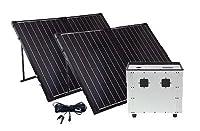 Portable Solar Generator with (2) Foldab...
