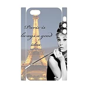 Audrey Hepburn Quotes DIY 3D Cover Case for Iphone 4s,personalized phone case ygtg-78044s6