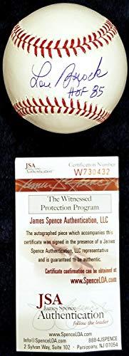 Lou Brock HOF 85 Inscription Autographed Signed MLB Baseball Hall Of Fame 1985 JSA COA - Authentic - Inscription Mlb Baseball Fame