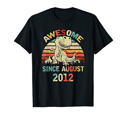 Awesome Since AUGUST 2012 7th Dinosaur Birthday ()