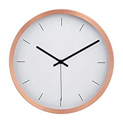 AmazonBasics 12 Modern Wall Clock, Copper