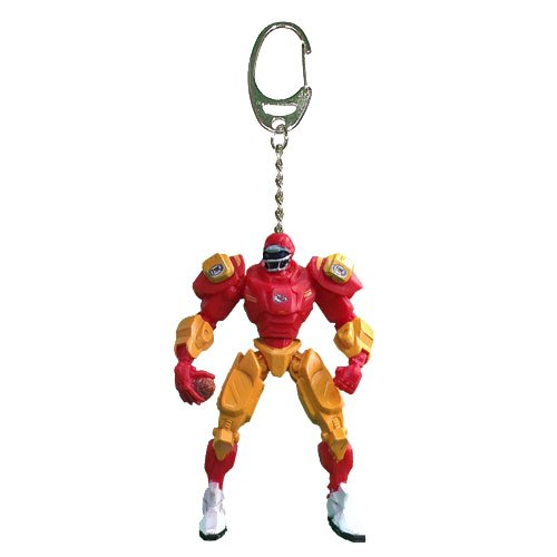 NFL Kansas City Chiefs Fox Sports Team Robot Key Chain, 3-inches