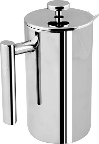 French Coffee Press - Double Wall 100% Stainless Steel - 32 Oz - by Utopia Kitchen (Metal Coffee Press compare prices)