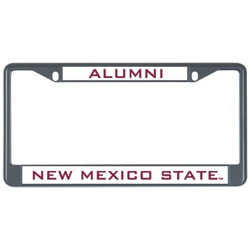 Suppwwe New Mexico State Alumni Metal License Plate Frame in Black Alumni 12