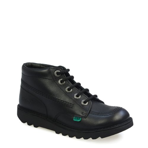 Kickers Kick Hi Core Black Leather Ankle - Kicker Black