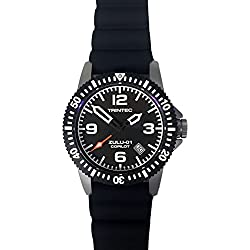 Trintec Aviation ZULU-01 Co-Pilot Men's Stainless Steel Watch with Rubber Band