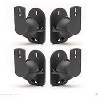 TechSol Essential TSS1-B - 4 Pack of Black Universal Speaker Wall Mount Brackets