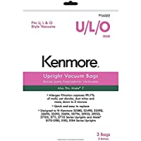 Kenmore 54322 3 Pack Style U/L/O Upright Vacuum Bags