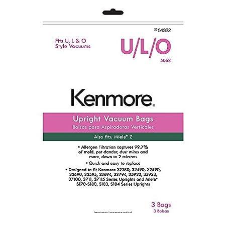 Amazon.com: Bolsas de aspiradora Kenmore Vertical u/l/O 5068 ...