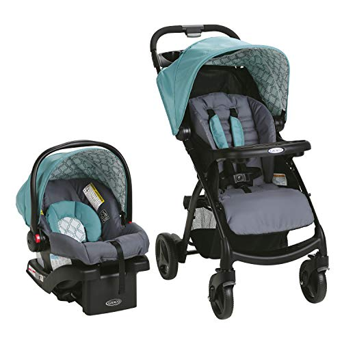 41hQhsM90VL - Graco Verb Travel System | Includes Verb Stroller And SnugRide 30 Infant Car Seat, Merrick