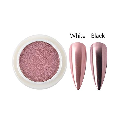MEILINDS Solid Mirror Powders Nail Art Mirror Pigment Powder Nail Glitter Rose Gold Shining Chrome Powder Decoration