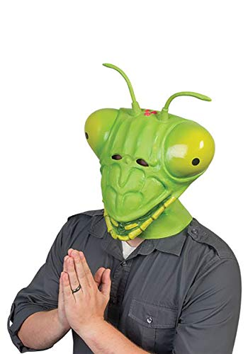 Praying Mantis Adult Costume Latex Mask -
