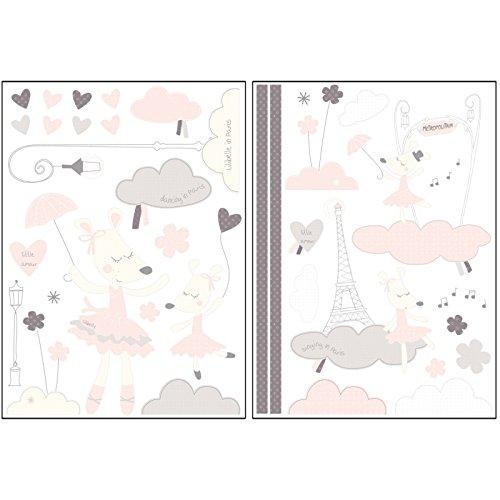 SAUTHON BABY DECO - Stickers chambre bébé lilibelle