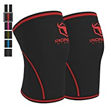 Knee Sleeves 7mm (1 Pair) - High Performance Support & Compression For Weight Lifting, Powerlifting and CrossFit - Knee Braces Provides Compression, Warmth, & Support For Haavy Lifting - For Men and Women