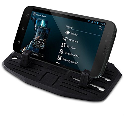 Zone Tech Silicone Pad Dash Mat Cell Phone Mount Holder - Premium Quality Cell Phone Mount Holder Cradle Dock For Phone
