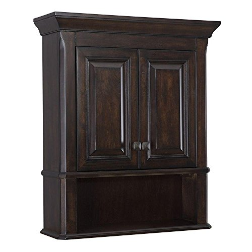 Moorpark 24 In. W Bathroom Wall Mounted Vanity Cabinet in Burnished Walnut by Home Decorators
