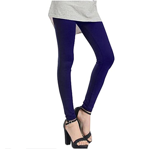 FANCY PUMPKIN 9/10 Golf Sun Protection Golf Pants Cool Ice Silk Stocking Sport Leggings-Navy