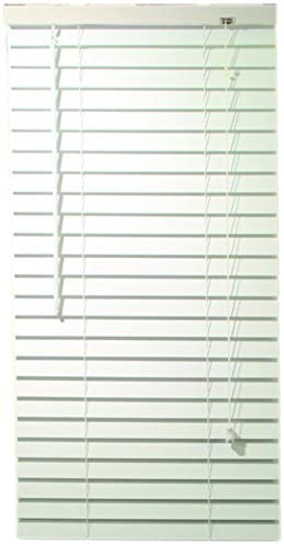 Designer s Touch 2464686 2-Inch Faux Wood Blind Crown Valance, 30 x 60 x 2-Inch, White