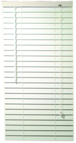 Crown Vinyl Blinds - Designer's Touch 2464714 2-Inch Faux Wood Blind Crown Valance, 47 x 72 x 2-Inch, White