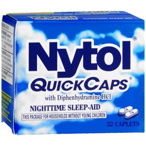 Special pack of 6 NYTOL SLEEP AID CAPLETS 32 CAPSULES
