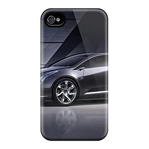 Durable Case For The Iphone 4/4s- Eco-friendly Retail Packaging(cadillac Concept Wds)