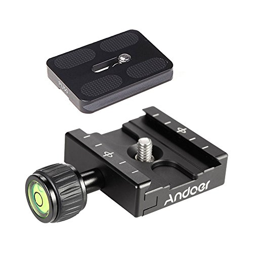 Andoer QR-50 QR Plate Square Clamp Adapter + PU-50 Quick Rel