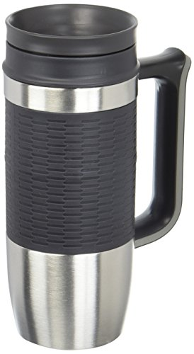 Trudeau Travel Mug (Trudeau Maison Boardroom II Travel Mug, 16 oz, Stainless Steel/Grey)