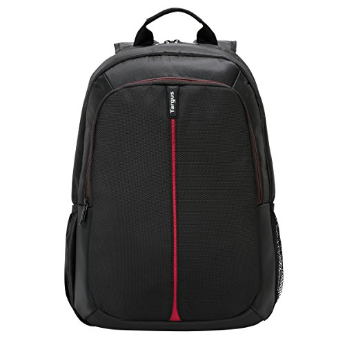 Targus Vertical 15.6-Inch Laptop Backpack, Black/Red (TSB884US)